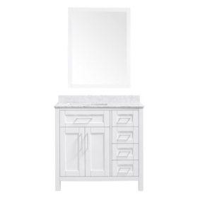 OVE Decors Tahoe 36 in. Bathroom Vanity with Mirror (White)