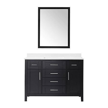 OVE Decors Tahoe 48 in. Bathroom Vanity with Mirror (Espresso)
