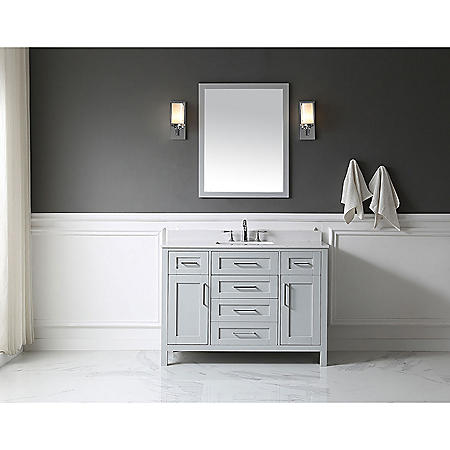 "OVE Decors Tahoe 48"" Bathroom Vanity with Mirror (Dove Grey)"