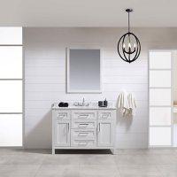 OVE Decors Tahoe 48 in. Bathroom Vanity with Mirror (White)