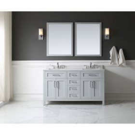 OVE Decors Tahoe 60 in. Bathroom Vanity with Mirror (Dove Grey)