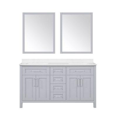 OVE Decors Tahoe 60 In. Bathroom Vanity With Mirror (Dove Grey)