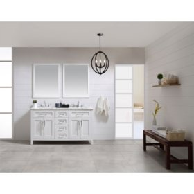 OVE Decors Tahoe 60 in. Bathroom Vanity with Mirror (White)