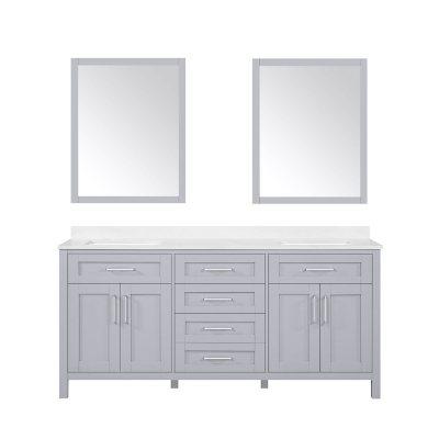 Ove Decors Tahoe 72 Bathroom Vanity With Mirror Dove Grey Sam S Club