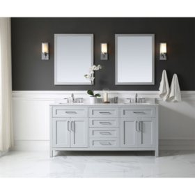 "OVE Decors Tahoe 72"" Bathroom Vanity with Mirror (Dove Grey)"