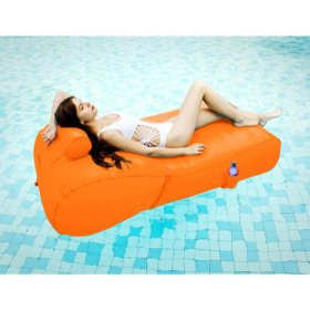 OVE Decors Aqua Sunlounger Inflatable Pool Float, Various Colors