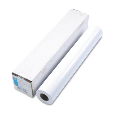 "HP Designjet Large Format Instant Dry Photo Paper, Glossy, 24"" x 100 ft, White"