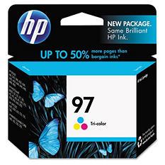 HP 97, (C9363WN) Tri-Color Original Ink Cartridge
