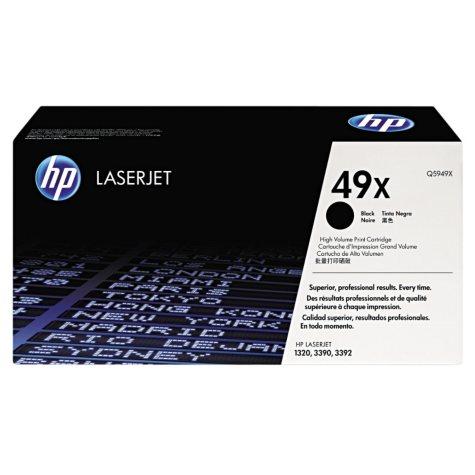 HP 49X Original Laser Jet Toner Cartridge, Black, Select Type