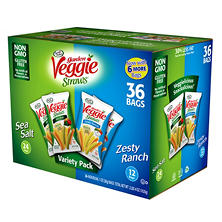 Sensible Portions Veggie Straws Variety Pack (1 oz. each, 36 ct.)