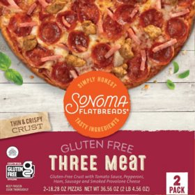 Sonoma Flatbreads Gluten-Free Three Meat Flatbread Pizza, Frozen (2 ct.)