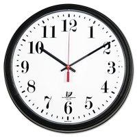 "Chicago Lighthouse Black Quartz Contract Clock, 13-3/4"", Black"