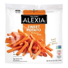 Alexia Sweet Potato Fries With Sea Salt, Frozen (64 oz.)
