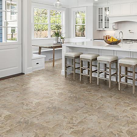 Select Surfaces Natural Slate Rigid Core Vinyl Tile Flooring (3 boxes)