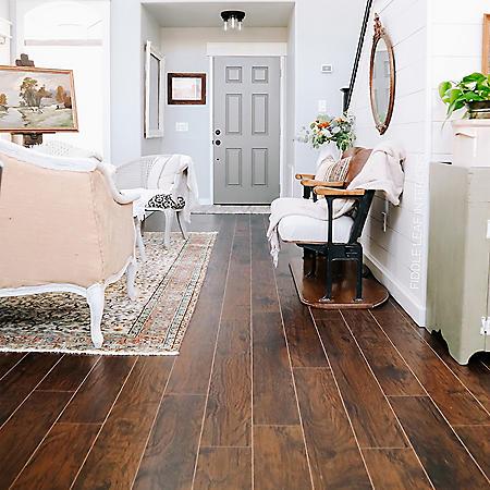 Select Surfaces Smoked Hickory SpillDefense Laminate Flooring