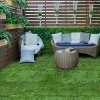 Select Surfaces Evergreen Artificial Grass Tile (2 Boxes)