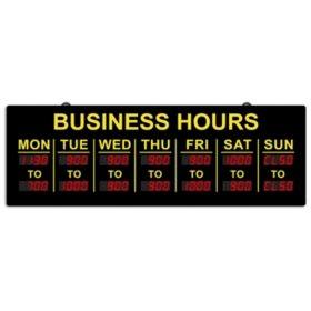 Digital Business Hours Sign