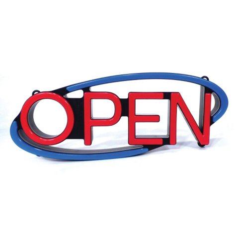 Mystiglo Bold Elipse LED Open Sign