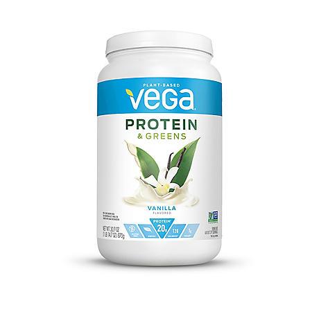 Vega Protein & Greens Vanilla Plant Based Protein Powder (29 servinngs)