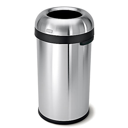 simplehuman 16-Gal. Stainless Steel Bullet Open Can