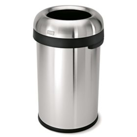 simplehuman 23-Gal. Stainless Steel Bullet Open Can