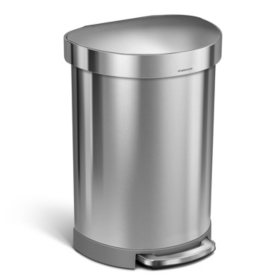 simplehuman 16 Gal Stainless Steel Step Can
