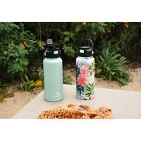 11 Pc. Hydraflow 34-oz. Double Wall Stainless Steel Bottle with Bonus Accessories, Set of 2 (Assorted Colors)