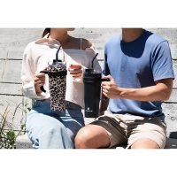 Hydraflow 40-Ounce CAPRI Double Wall Stainless Steel Tumbler with Handle, 2 Pack (Assorted Colors)