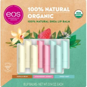 eos 100% Natural & Organic Lip Balm Stick (0.14 oz. each, 8 pk.)
