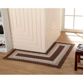 """Country Braid L-Shaped Rug, 20"""" x 48"""" x 48"""" L (Assorted Colors)"""