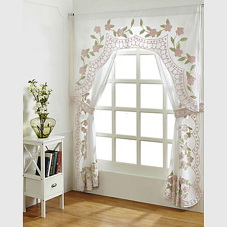 Better Trends Bloomfield Cotton Chenille Curtains