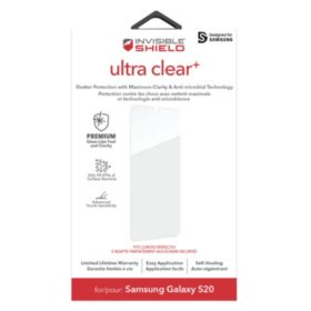 ZAGG InvisibleShield Ultra Clear Plus Samsung Galaxy S20 Case Friendly Screen Protector