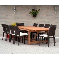Amazonia Riverton 11-Piece Outdoor Dining Set (Teak FInish)