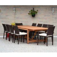 Amazonia Lindon 9-Piece Outdoor Dining Set (Teak Finish)