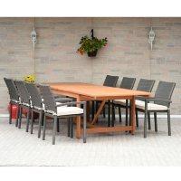 Amazonia Ivins 9-Piece Outdoor Dining Set (Teak Finish)