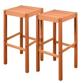 Amazonia Grantsville Outdoor Barstools, Set of 2