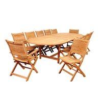 Amazonia Riverton 11-Piece Outdoor Dining Set (Certified Teak)