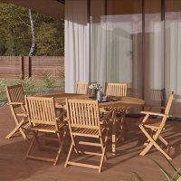Amazonia Lewiston 7-Piece Outdoor Dining Set (Certified Teak)