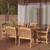Amazonia Hayden 7-Piece Outdoor Dining Set (Certified Teak)