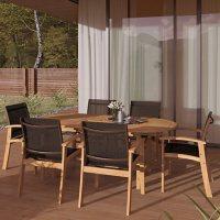 Amazonia Preston 7-Piece Outdoor Dining Set (Certified Teak)