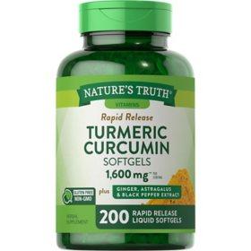 Nature's Truth Turmeric Curcumin Softgels 1,600mg (200 ct.)
