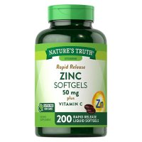 Nature's Truth Zinc 50mg + Vitamin  C Softgels (200 ct.)