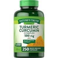 Nature's Truth Optimal Absorption Turmeric Curcumin Complex 500mg, Quick Release Capsule (250 ct.)