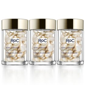 RoC Retinol Line Smoothing Night Serum Capsules (30 ct., 3 pk.)