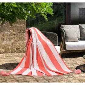 Fade Resistant Tassel Throw (Assorted Colors)