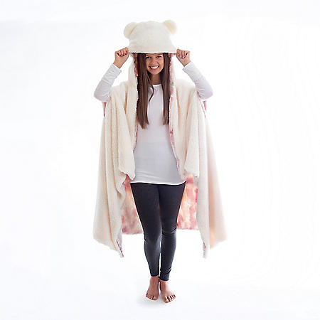 Hooded Plush Wrap $4.81
