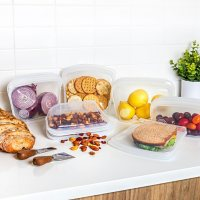 Honest Goods 6-Piece Silicone Food Safe Multi-Use Storage Bags (Assorted Colors)