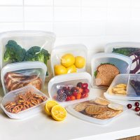 Honest Goods 9-Piece Silicone Food Safe Multi-Use Storage Bags (Assorted Colors)
