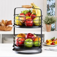 Mesa 2-Tier Stand with Removable Baskets