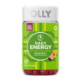 OLLY Daily Energy Gummies with B12, CoQ10 and Goji Berry, Caffeine Free (120 ct.)